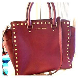 Michael Kors 'Selma Stud'- Large Saffiano Leather